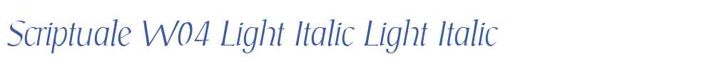 Scriptuale W04 Light Italic