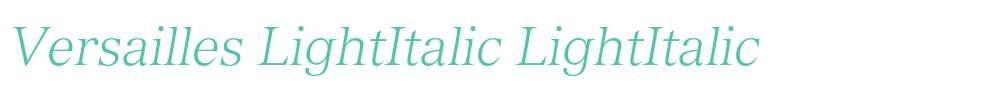 Versailles LightItalic