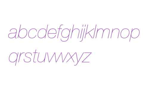 Helvetica Neue LT W0626UltLtIt