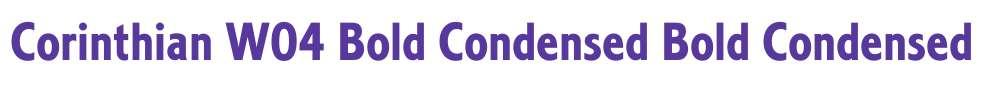 Corinthian W04 Bold Condensed