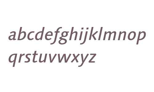 LinotypeSyntaxOsF-MediumIt