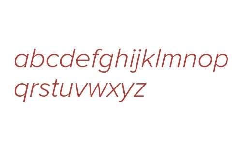 Proxima Nova Light Italic