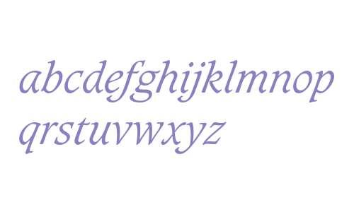 Caxton Light Italic