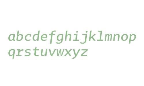 Tabac Mono Medium Italic