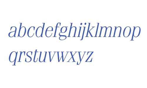 Fenice* Light Italic