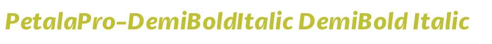 PetalaPro-DemiBoldItalic