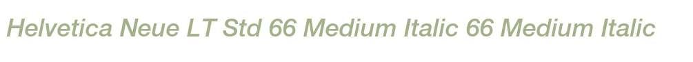 Helvetica Neue LT Std 66 Medium Italic