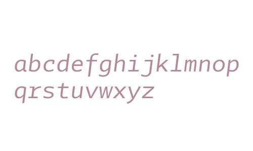 Tabac Mono Italic