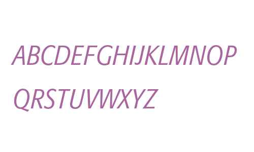 Formata Light Condensed Italic Small Caps & Oldstyle Figures