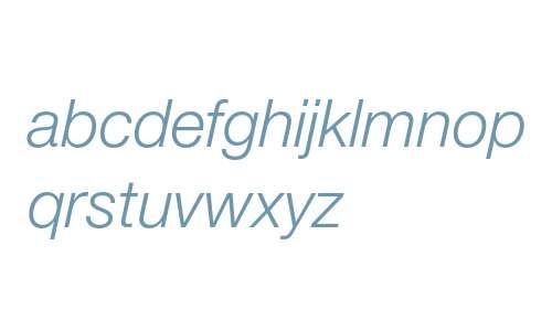 12 pt. Helvetica* 46 Light Italic 11472