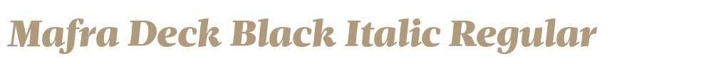 Mafra Deck Black Italic