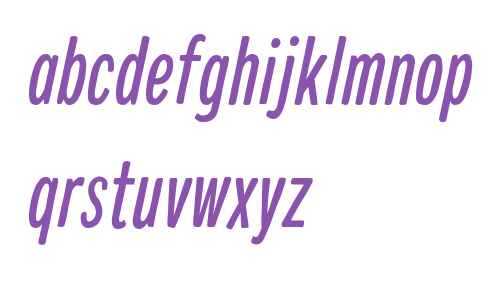 Colby Compressed Regular Italic
