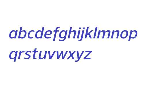 NuOrder W00 DemiBold Italic