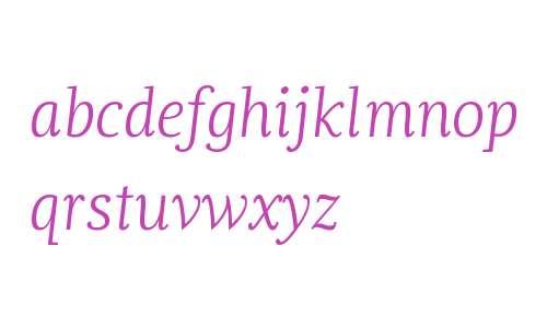 Dorica W01 Light Italic