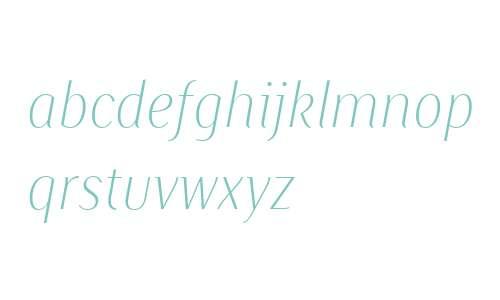 Saya SmSans FY W04 Thin Italic