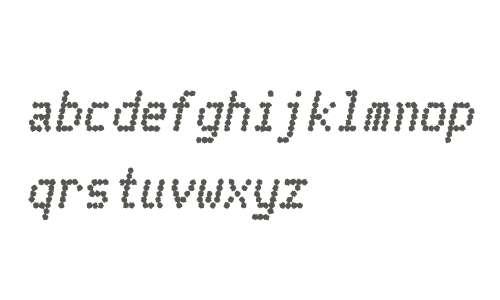 Telidon Ink W00 Heavy Italic