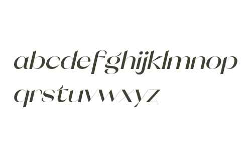 Orelo SemiWide DemiBold Italic
