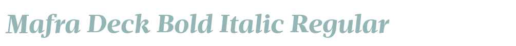 Mafra Deck Bold Italic