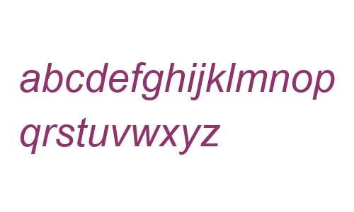 Arial MT W04 Italic