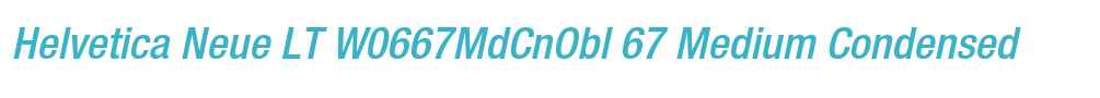 Helvetica Neue LT W0667MdCnObl
