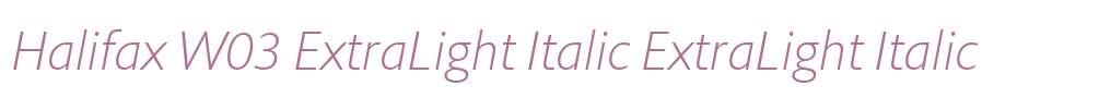 Halifax W03 ExtraLight Italic