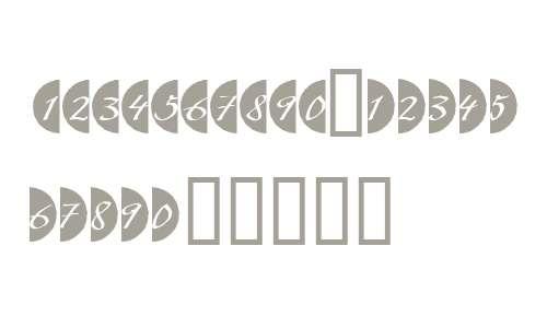Bullet Numbers W90 Script Neg