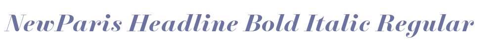 NewParis Headline Bold Italic