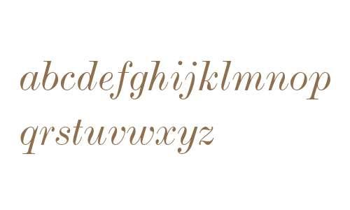 Modern MT W04 Extended Italic