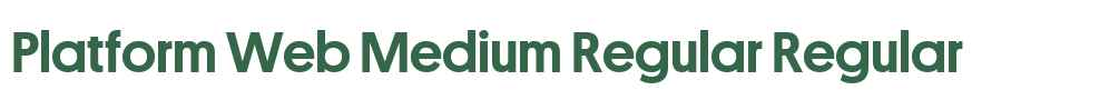 Platform Web Medium Regular