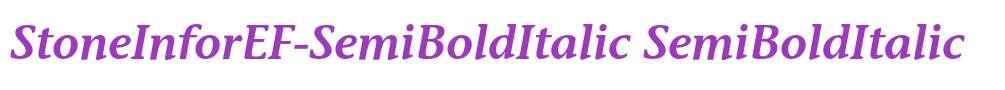 StoneInforEF-SemiBoldItalic