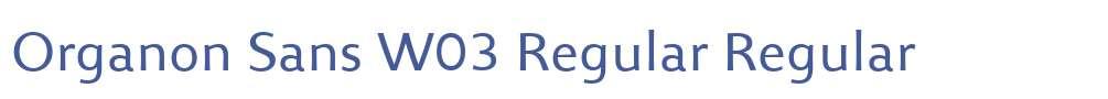 Organon Sans W03 Regular