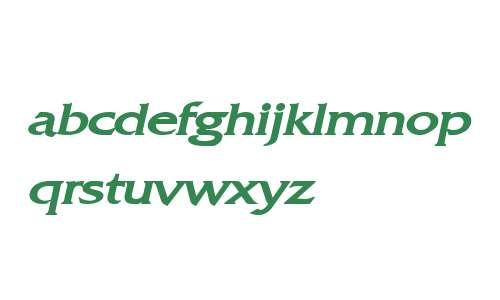 Franco Wide Bold Italic