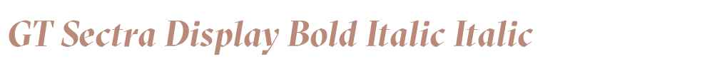 GT Sectra Display Bold Italic
