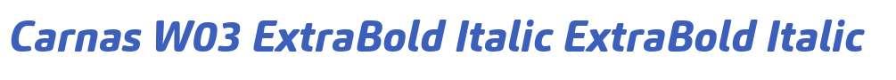 Carnas W03 ExtraBold Italic