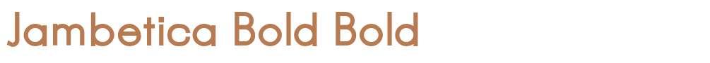 Jambetica Bold