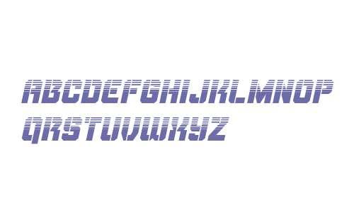 Thunder Trooper Halftone Italic