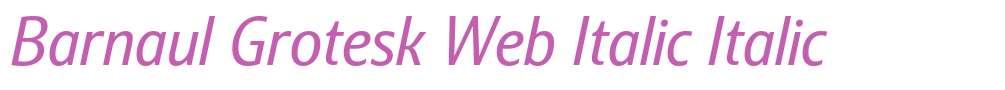 Barnaul Grotesk Web Italic