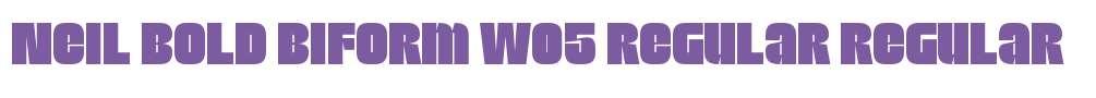 Neil Bold Biform W05 Regular