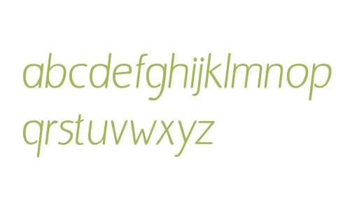 Bergsland Round W01 Italic