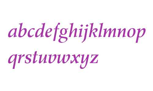 Wile Roman W04 Medium Italic