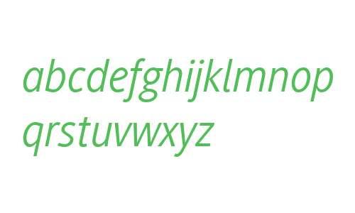 Generis Sans W04 Italic