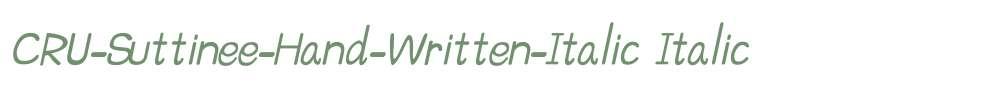CRU-Suttinee-Hand-Written-Italic