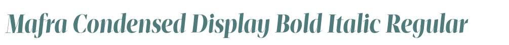 Mafra Condensed Display Bold Italic