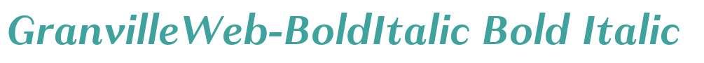 GranvilleWeb-BoldItalic