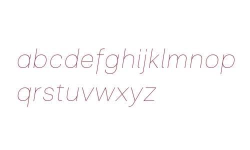 Clinica W03 Thin Italic