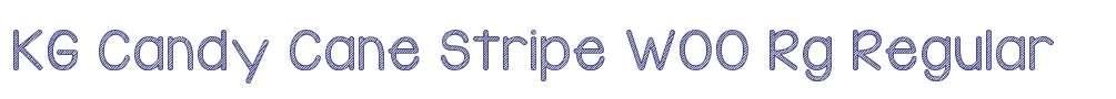 KG Candy Cane Stripe W00 Rg