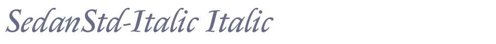 SedanStd-Italic