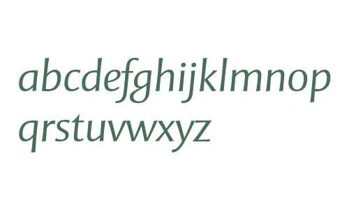 Mentor Sans Std Light Italic