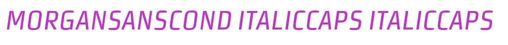 MorganSansCond ItalicCaps