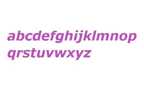 Verdana Bold Italic